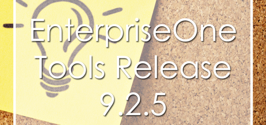 JD Edwards Tool Release 9.2.4.4